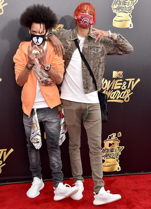 "<p>This trap/pop song, which has reached No. 30, is the first hit for brothers Ayleo and Mateo Bowles. The dancer/rappers have appeared in music videos for Usher's ""No Limit"" and Chris Brown's ""Party."" Current Hot 100 ranking: No. 31. <a href=""https://www.youtube.com/watch?v=rCx4NFNuYgI"" rel=""nofollow noopener"" target=""_blank"" data-ylk=""slk:LISTEN HERE"" class=""link rapid-noclick-resp""><strong>LISTEN HERE</strong></a><br>(Photo: Alberto E. Rodriguez/Getty Images) </p>"