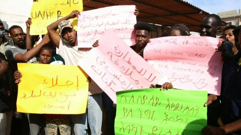 After deadly shooting, migrants in Libya just want to leave (AFP/Hosam AHMAD)