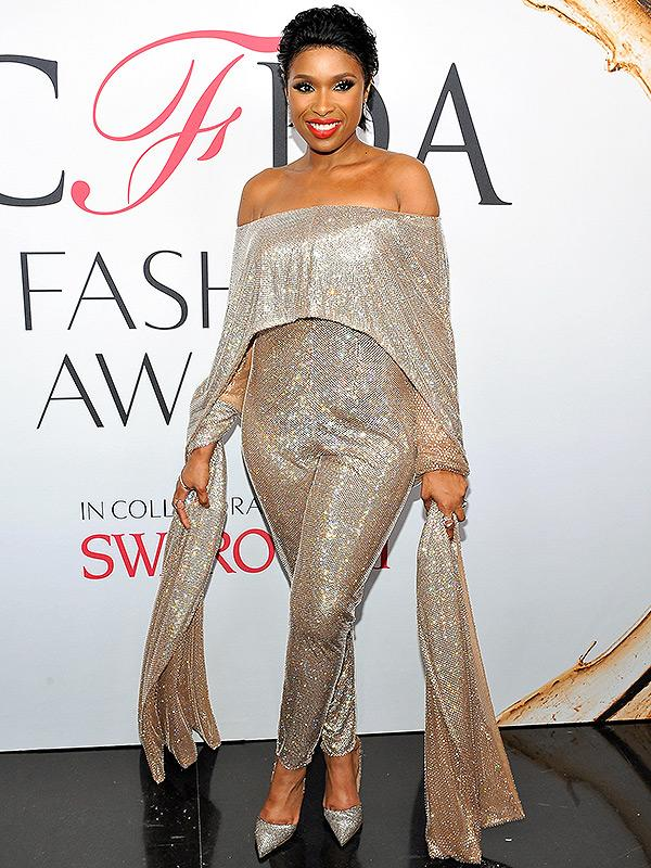 Jennifer Hudson crystal jumpsuit CFDA Awards 2016