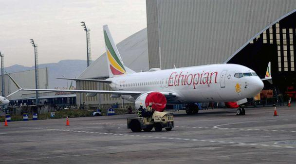 PHOTO:An Ethiopean Airlines Boeing 737 Max 8 parked at Bole International airport, Addis Ababa, Ethiopia, April 4, 2019. (STR/EPA via Shutterstock)