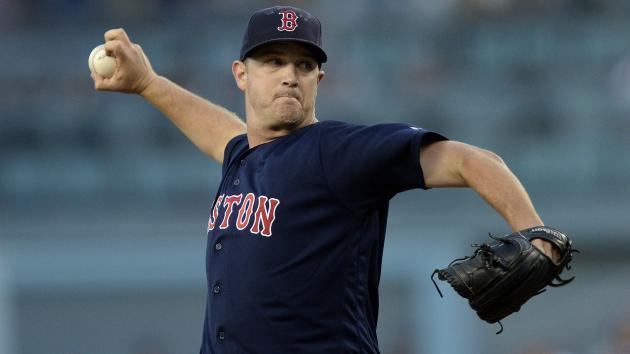 "Red Sox pitcher <a class=""link rapid-noclick-resp"" href=""/mlb/players/9370/"" data-ylk=""slk:Steven Wright"">Steven Wright</a> was arrested and charged with domestic assault and preventing a 911 call on Dec. 8. (AP)"