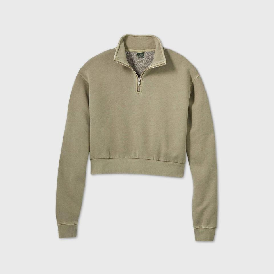 <p>You'll want to live in this <span>Wild Fable Quarter Zip Sweatshirt</span> ($22).</p>