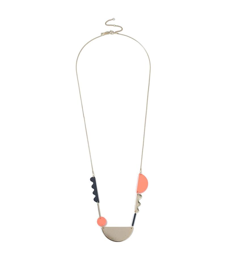 "<p>Topshop abstract necklace, $28, <a rel=""nofollow"" href=""http://us.topshop.com/en/tsus/product/bags-accessories-1702229/jewelry-70524/abstract-necklace-6764501?bi=40&ps=20"">topshop.com</a> </p>"