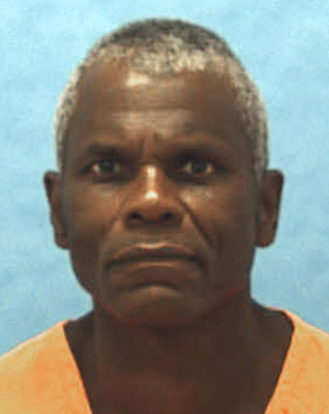 FILE - This undated photo file provided by the Florida Department of Corrections shows death-row inmate John Errol Ferguson. Ferguson, convicted of murdering eight people in Miami-Dade County in the late 1970s, was executed Monday night, Aug. 5, 2013 at the Florida State Prison, despite his lawyers' pleas that he was too mentally ill to be put to death. (AP Photo/Florida Department of Corrections, File)