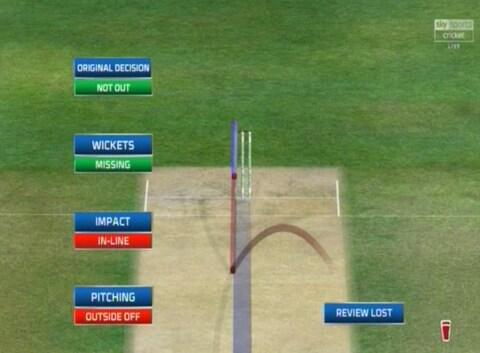Ball tracking shows the ball missing the stumps - Credit: SKY SPORTS