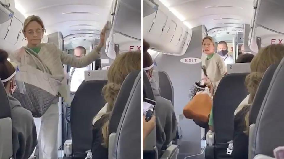 woman leaves flight for refusing to wear a mask