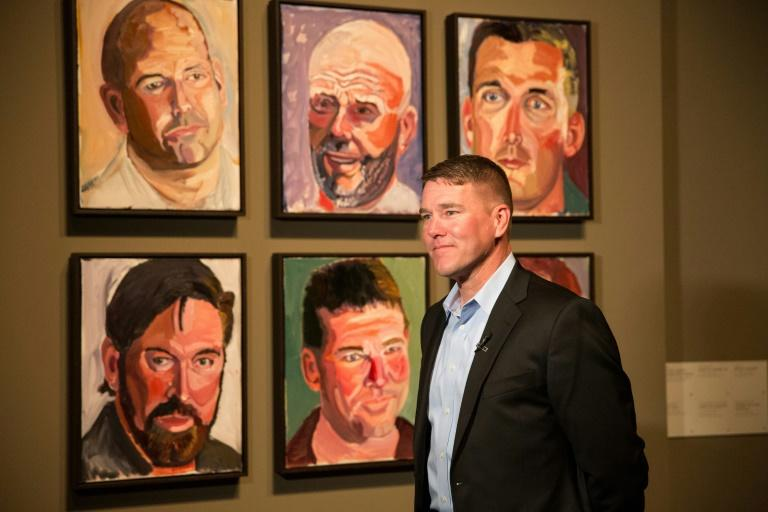 "The ""Portraits of Courage"" exhibition features 66 portraits of US military veterans, such as James Williamson"