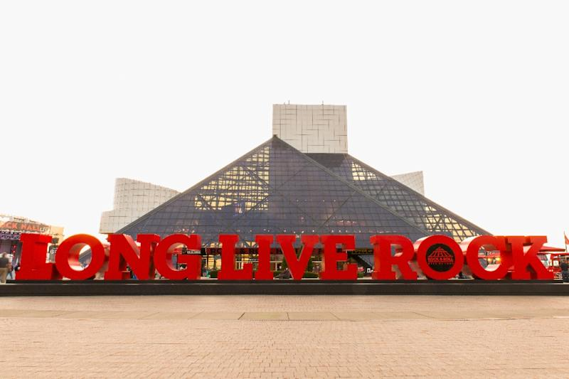The Rock and Roll Hall of Fame and Museum, in Cleveland, Ohio, is pictured in this August 30, 2017 photo (AFP Photo/Duane Prokop)