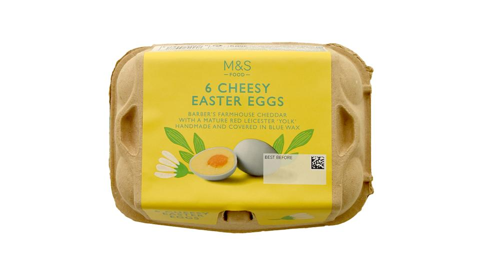 Marks & Spencer has launched cheese Easter eggs ahead of Easter Sunday. (M&S)