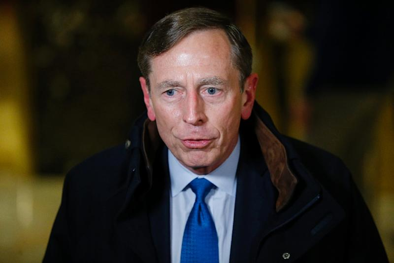 Ret. General and former CIA Director, David Petraeus leaves after meetings with President-elect Donald Trump on November 28, 2016 at Trump Tower in New York