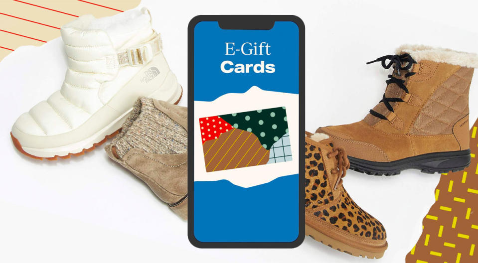 A Zappos gift card is a crowd-pleaser with a little more flair than cards from the usual suspects. (Photo: Zappos)