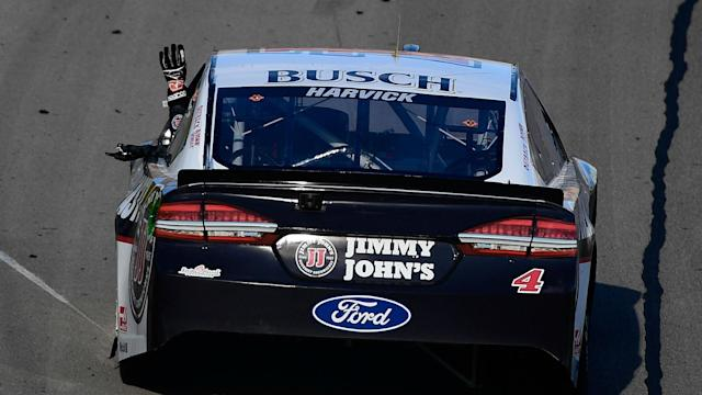 Kevin Harvick was docked seven playoff points while his team and owner were docked 20 additional points for two violations in Las Vegas.