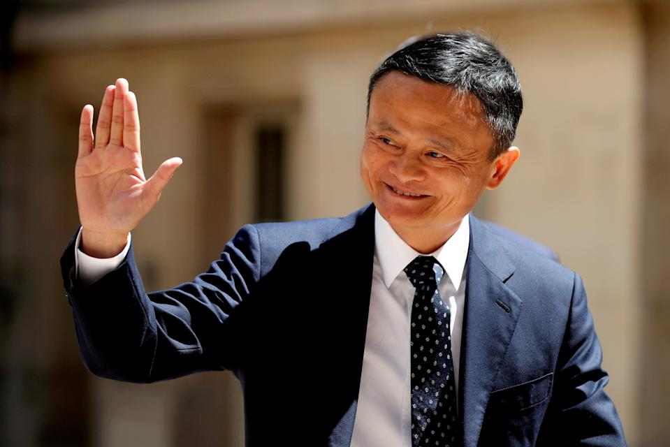 File image: Jack Ma, billionaire founder of Alibaba Group, arrives at the 'Tech for Good' summit in Paris in May 2019 (REUTERS)