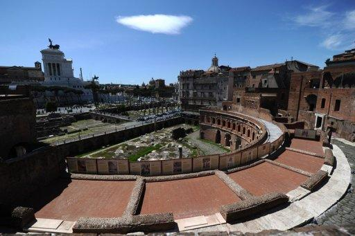 """The Trajan's Market in Rome. Built in the second century AD as a series of vaulted offices for managers of the nearby Trajan Forum headed up by a """"procurator"""", the architectural complex has served as a fortress, a convent and a barracks over the centuries"""