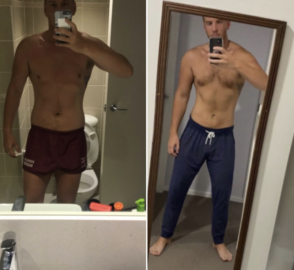 Liam Cooper before and after weight loss