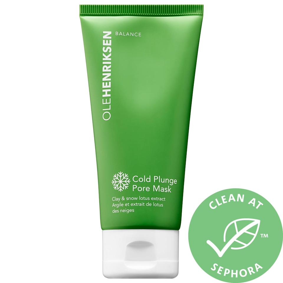 <p>This <span>Olehenriksen Cold Plunge Pore Mask</span> ($38) was inspired by the popular cold-plunge step after leaving a hot sauna in Henriksen's native Denmark, and how refreshing does a cool dip sound right about now? Perfect to chill out hot skin, the detoxifying clay mask uses botanicals that thrive in wintry environments to soothe skin and control excess oil.</p>