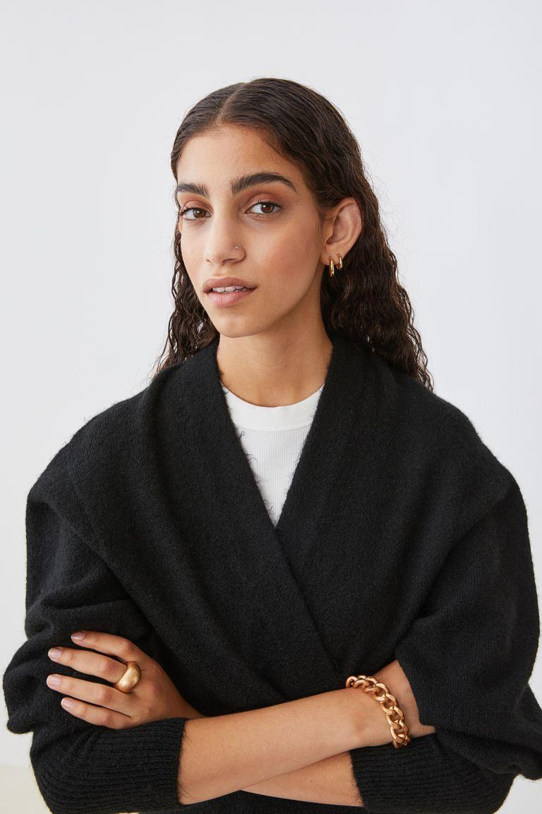 """<br><br><strong>H&M</strong> Long Cardigan, $, available at <a href=""""https://go.skimresources.com/?id=30283X879131&url=https%3A%2F%2Fwww2.hm.com%2Fen_us%2Fproductpage.0863595006.html"""" rel=""""nofollow noopener"""" target=""""_blank"""" data-ylk=""""slk:H&M"""" class=""""link rapid-noclick-resp"""">H&M</a>"""