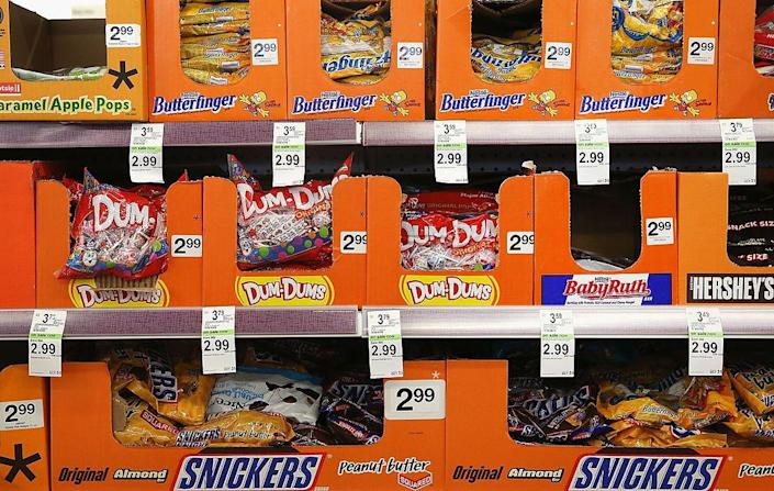 """<p>2017 is the record year for Halloween spending in the US, with $9.1 billion being spent on the holiday in total. According to a survey by the National Retail Federation, 95% of respondents planned to purchase candy that year <a href=""""https://www.forbes.com/sites/sleasca/2017/10/30/halloween-spending-halloween-candy/?sh=51f4da1720a1"""" rel=""""nofollow noopener"""" target=""""_blank"""" data-ylk=""""slk:amounting in a total spend of $2.7 billion"""" class=""""link rapid-noclick-resp"""">amounting in a total spend of $2.7 billion</a> just on these festive sweets alone.</p>"""