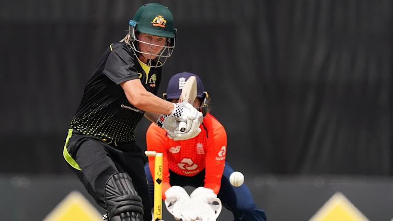 Beth Mooney top scored for Australia with a half century in the T20 clash with England in Melbourne
