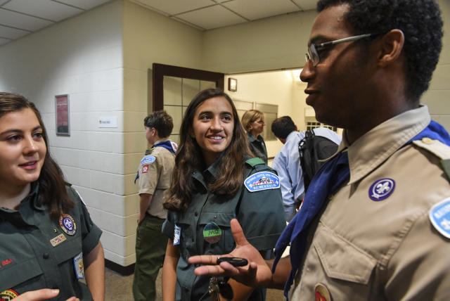 The Boy Scouts, which currently allows girls in its Venturing program, will change its name to reflect its more inclusive membership policy. (Photo: Ricky Carioti/the Washington Post via Getty Images)