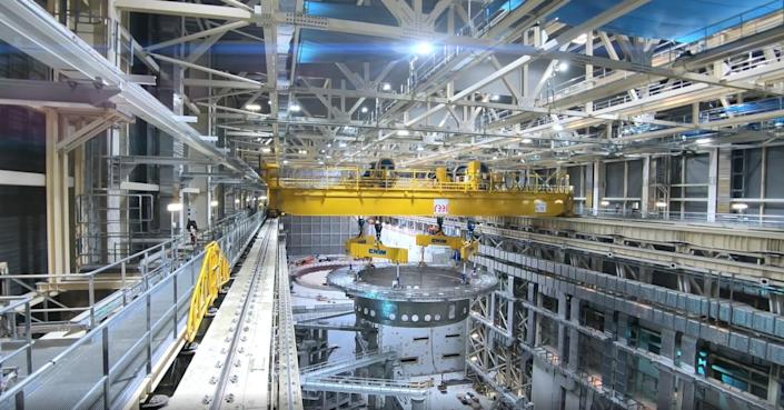 A view of ITER assembly. The facility in southern France is an international collaboration that aims to generate industrial-scale fusion energy. / Credit: ITER.org