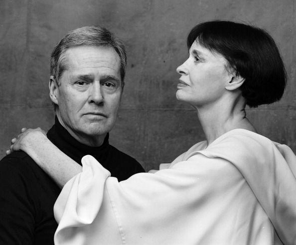 <p>Vanderbilt at a photo shoot with Pulitzer Prize-winning composer and diarist Ned Rorem in New York City.</p>