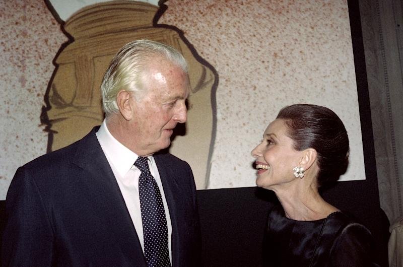 French designer Hubert de Givenchy and American actress Audrey Hepburn worked together for over 40 years (AFP Photo/PIERRE GUILLAUD)