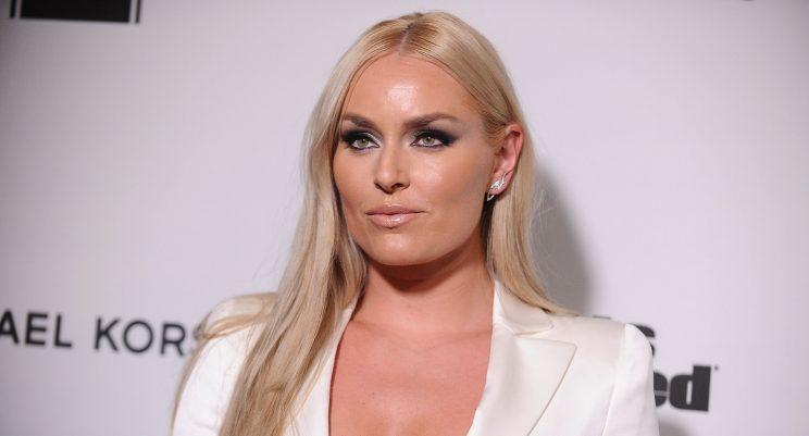 Vonn's smokey makeup brought the heat to her all-white outfit. (Photo: Getty Images)