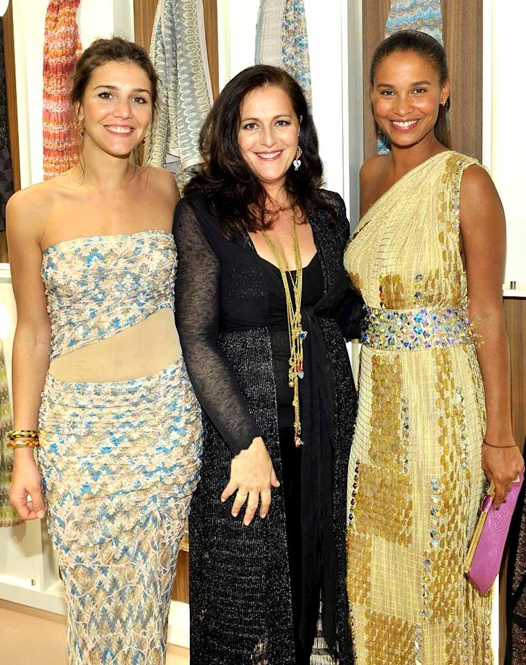 """Designer Angela Missoni -- that's her in the middle -- hosted a dinner party to celebrate the opening of her first Beverly Hills outpost. The guest list included her daughter Margherita Missoni, """"Parenthood"""" actress Joy Bryant, and other celebrity fans. Charley Gallay/<a href=""""http://www.gettyimages.com/"""" target=""""new"""">GettyImages.com</a> - March 17, 2010"""