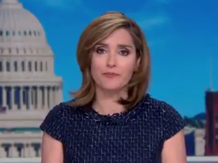 Margaret Brennan during Face the Nation on Sunday: (CBS News)