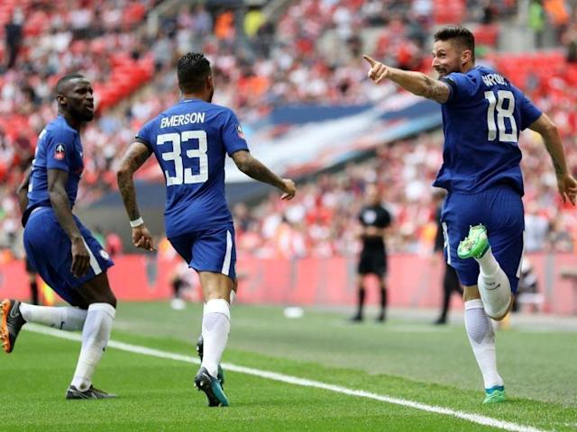 Olivier Giroud huffed and he puffed and he blew Southampton away, in the only way he knows how