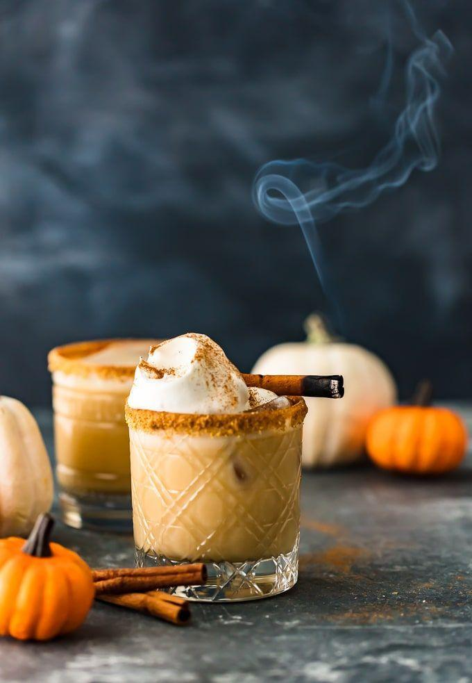 """<p>You only need three ingredients to make these creamy pumpkin cocktails. Don't forget about the graham cracker rim for a fancy touch!</p><p><strong>Get the recipe at <a href=""""https://www.thecookierookie.com/pumpkin-spice-white-russian-cocktail/"""" rel=""""nofollow noopener"""" target=""""_blank"""" data-ylk=""""slk:The Cookie Rookie"""" class=""""link rapid-noclick-resp"""">The Cookie Rookie</a>.</strong></p><p><a class=""""link rapid-noclick-resp"""" href=""""https://go.redirectingat.com?id=74968X1596630&url=https%3A%2F%2Fwww.walmart.com%2Fbrowse%2Fdining-entertaining%2Fdrinkware%2F4044_623679_639999_3148543%3Ffacet%3Dbrand%253AThe%2BPioneer%2BWoman&sref=https%3A%2F%2Fwww.thepioneerwoman.com%2Ffood-cooking%2Fmeals-menus%2Fg33510531%2Ffall-cocktail-recipes%2F"""" rel=""""nofollow noopener"""" target=""""_blank"""" data-ylk=""""slk:SHOP DRINKWARE"""">SHOP DRINKWARE</a></p>"""