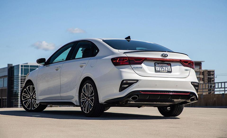 """<p>Unlike its sister brand Hyundai, the number of Kia models with three pedals has diminished radically over the last few years. For 2021, Kia only offers one model with a stick, the <a href=""""https://www.caranddriver.com/kia/forte-forte5"""" rel=""""nofollow noopener"""" target=""""_blank"""" data-ylk=""""slk:Forte sedan"""" class=""""link rapid-noclick-resp"""">Forte sedan</a>. A six-speed manual is available in the base FE trim level and in the turbocharged Forte GT, which is also available with a seven-speed dual-clutch.</p>"""