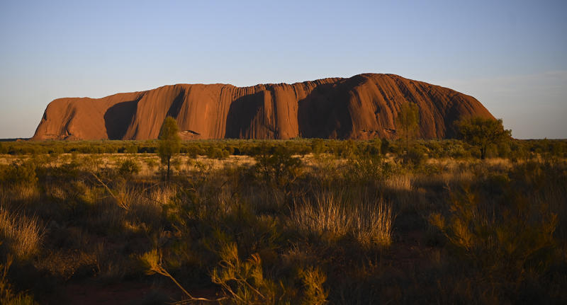 Uluru, also known as Ayers Rock is seen during sunrise at Uluru-Kata Tjuta National Park in the Northern Territory.
