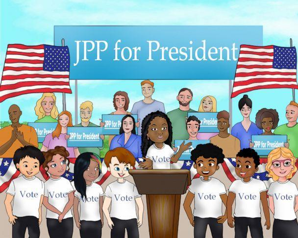 PHOTO: An illustration from Jessica Childress' book, 'President Prudence: J.P. Leads the Country.' (Courtesy Jessica Childress)