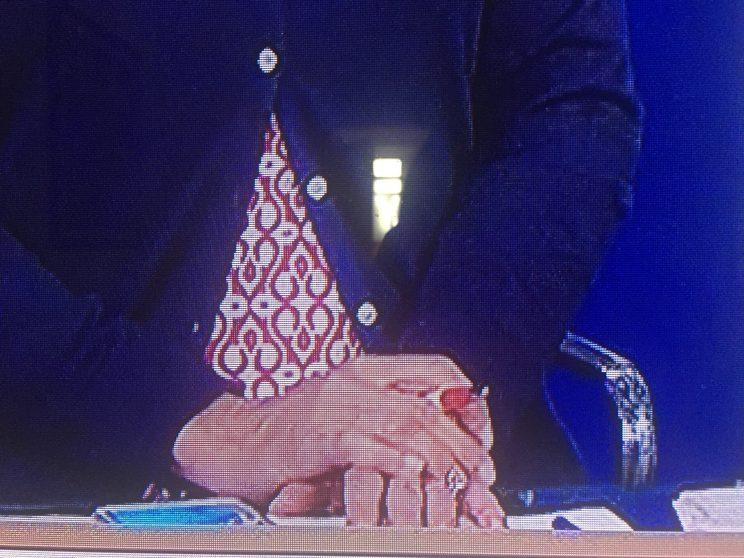 Brzezinski's ring (Screengrab via MSNBC)
