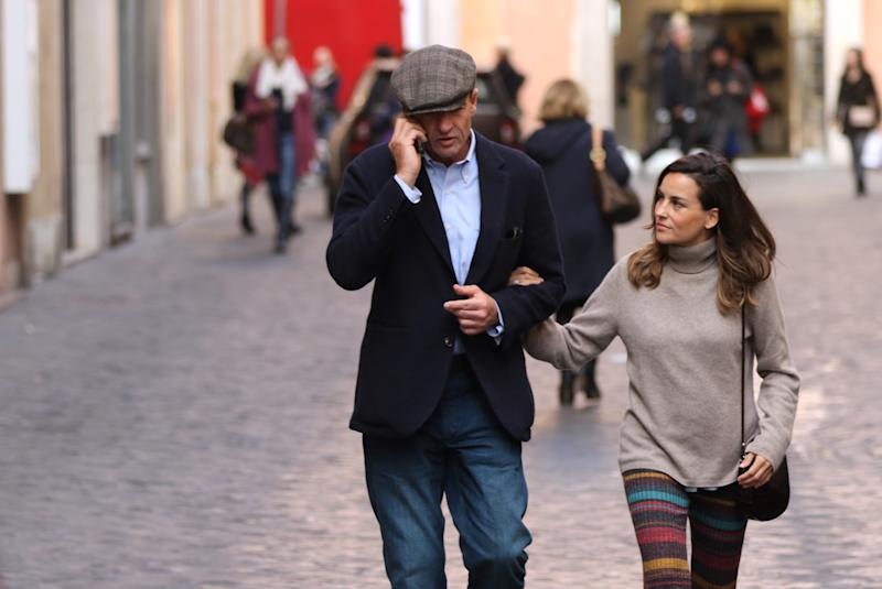 ROME, ITALY - NOVEMBER 18: Count Alessandro Lequio and Maria Palacios are seen on November 18, 2016 in Rome, Italy. (Photo by Europa Press/Europa Press via Getty Images)