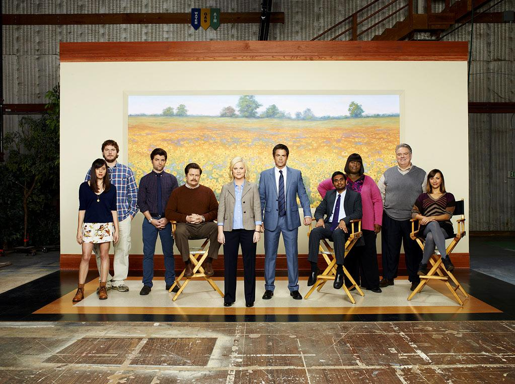 "The cast of ""Parks and Recreation."""