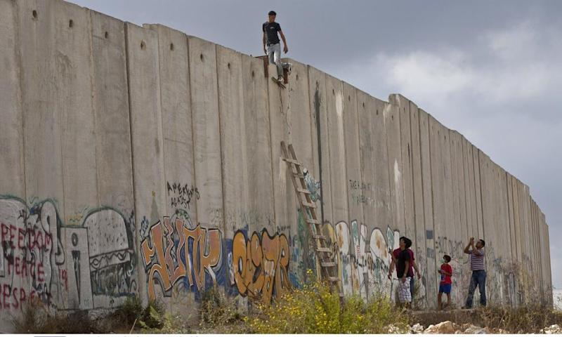Israel's separation wall near Ramallah in the West Bank.