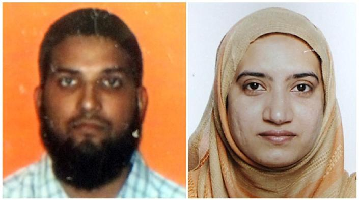 Combo photo shows Syed Farook and his wife Tashfeen Malik the two suspects in the December 2, 2015, mass shooting in San Bernardino, California (AFP Photo/)
