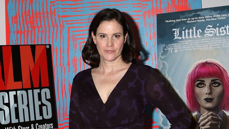 """Ally Sheedy attends New York Film Critics Series """"Little Sisters"""" Q&A on October 5, 2016. (Photo by Laura Cavanaugh/FilmMagic)"""