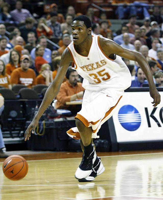 Texas Longhorn (35) Kevin Durant in the game against the Texas Southern Tigers at Frank Erwin Center in Austin, Texas on November 28, 2006. The Longhorns defeated the Tigers 90 to 40. (Photo by Jim Redman/WireImage)