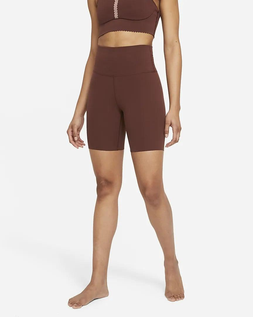 <p>The material and color of these <span>Nike Yoga Luxe Shorts</span> ($45) is perfect for sweaty springtime workouts.</p>