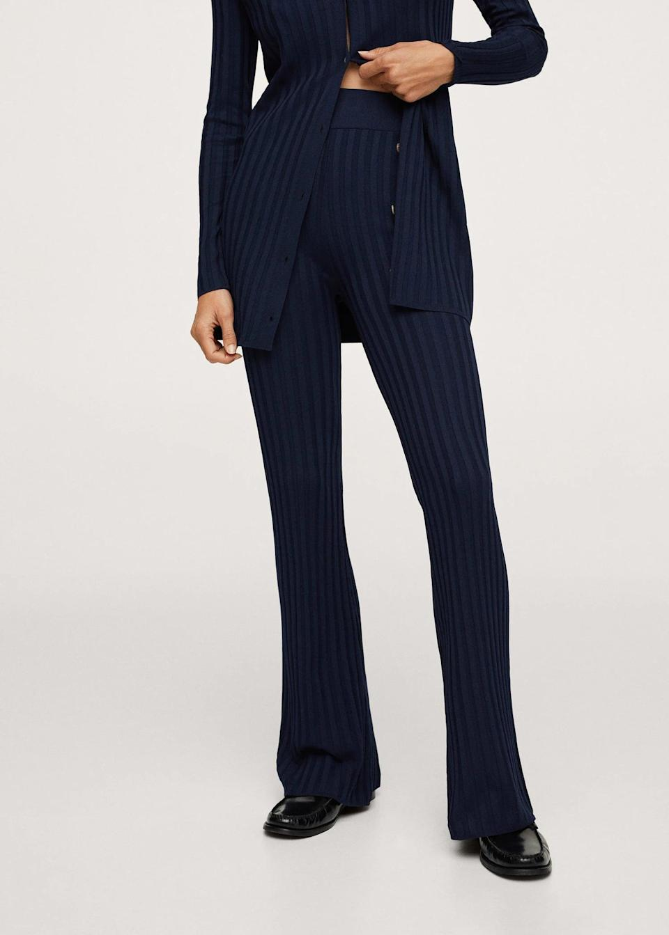 <p>These <span>Ribbed Knit Trousers</span> ($60) look so luxurious, they are a step above your regular everyday pants. The refined look and versatile color will make them your favorite to wear at home or to make an elegant statement somewhere.</p>