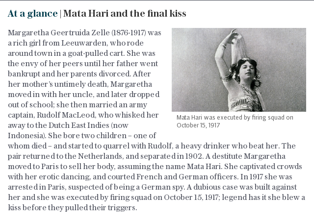 At a glance | Mata Hari and the final kiss