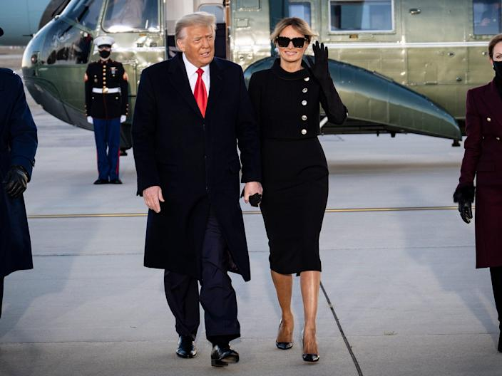 melania trump inauguration first outfit