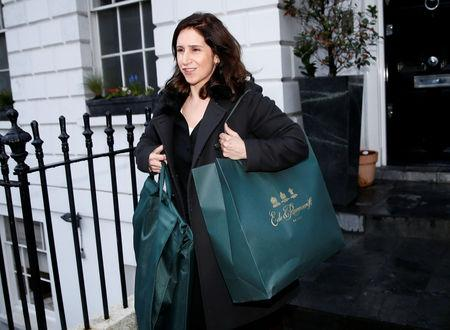 FILE PHOTO: Marina Wheeler, the wife of London Mayor Boris Johnson leaves their home in London, Britain February 22, 2016. REUTERS/Stefan Wermuth/File Photo