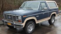 <p>Featuring four-wheel drive capability, Broncos are still a staple for off-road drivers. In 2018, a 1989 Ford Bronco II XLT with aftermarket aluminum wheels sold for $10,725. The previous year, a 1987 Eddie Bauer edition of the Ford Bronco II had a selling price of $8,250.</p>