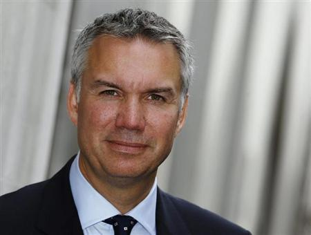 Co-operative Group Chief Executive Euan Sutherland poses for a photograph after a news conference in the City of London