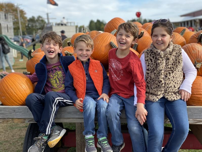 Pumpkin picking has become an annual tradition for some families.